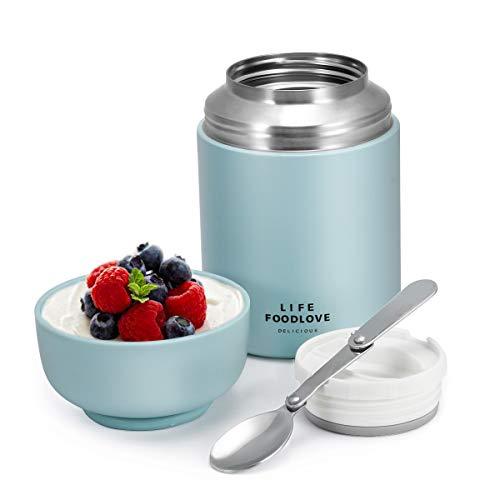 Comfook Thermobehälter für Essen, Edelstahl Isolierbehälter Speisegefäß Warmhaltebox, Thermo Gefäß mit...