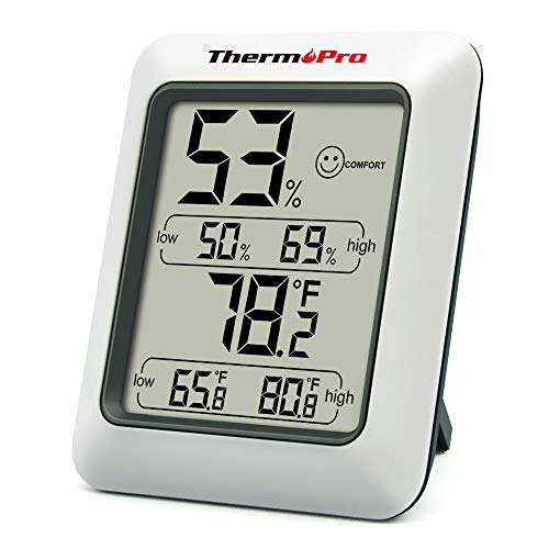 ThermoPro TP50 digitales Thermo-Hygrometer Hygrometer Innen Thermometer Raumthermometer mit Aufzeichnung und...