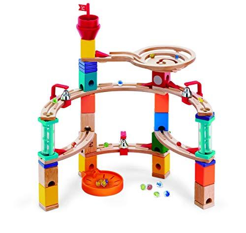 Hape E6019 - Aus der Burg entkommen, Quadrilla Kugelbahn, Konstruktionsspielzeug, mit Karussell und Glocken,...