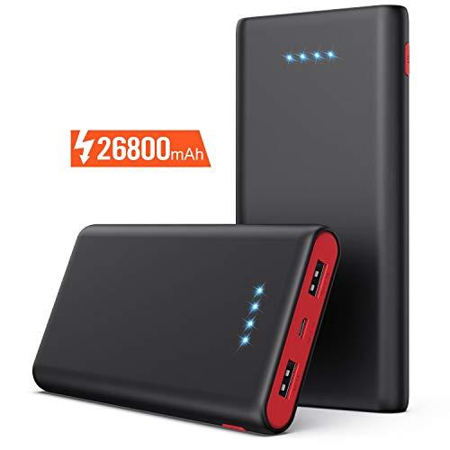 Pxwaxpy Powerbank, 26800mAh 【Neuestes Design】Externer Akku, Hohe Kapazitat Portable Ladegerät Power Pack...