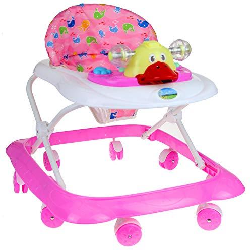 Lauflernhilfe Racer mit Spielcenter Gehfrei Gehhilfe Baby Walker in 3 verschiedenen Farben (Pink)