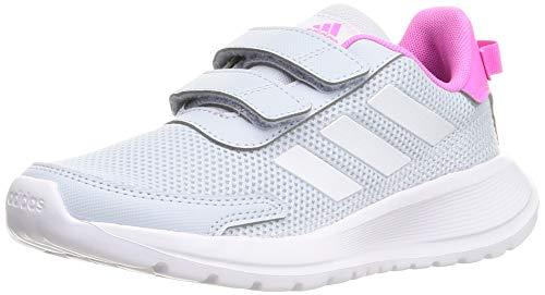 adidas Unisex Tensaur Run Sneaker, Halo Blue Cloud White Screaming Pink, 35 EU