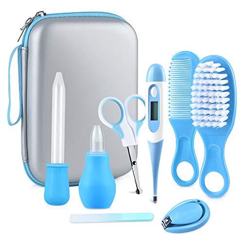 Babypflege Set, 8 teiliges Baby Gesundheitswesen Kit mit Nasensauger Pipette Feeder Nagel Haarpflegeset für...