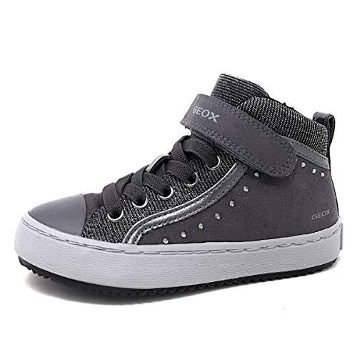 Geox Mädchen J Kalispera Girl I Hohe Sneaker, Grau (Dk Grey), 31 EU