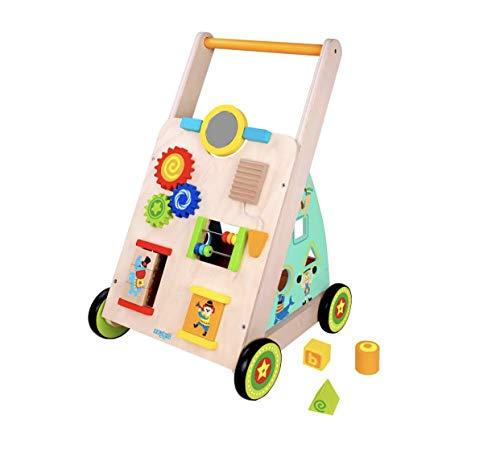 RB&G Lauflernwagen aus Holz mit Gummibereifung laufwagen ab 1 jahr laufhilfe für baby spielzeug ab 1 jahr...