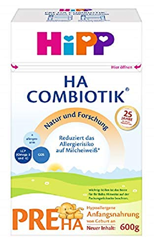 Hipp Milchnahrung, Pre HA Combiotik, 4er Pack (4 x 600 g)