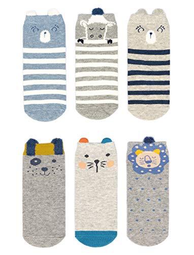 Adorel Baby Jungen Socken Anti-Rutsch Stoppersocken 6er-Pack 1-3 Jahre