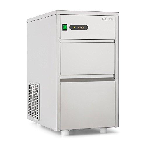 Klarstein Powericer XL Profi-Eiswürfelmaschine - Eiswürfelbereiter, Ice Maker, Edelstahl, 145 Watt Leistung,...