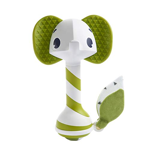Tiny Love 2-in-1 Baby Rassel & Beißring Spielzeug, niedliche Babyrassel im Elefanten Design mit Beißring und...