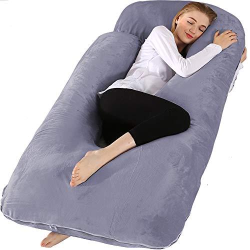 Chilling Home Schwangerschaftskissen, 60 Zoll Ganzkörperkissen Mutterschaftskissen für Schwangeren, Komfort...