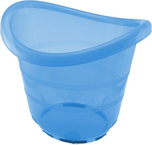 Bieco Badeeimer blau für Früh- Neugeborene und größere Babys bis ca 17 KG, Kunststoff schadstoffrei,...