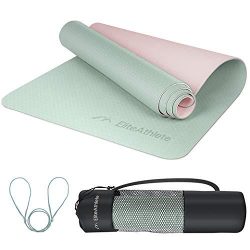 EliteAthlete Yogamatte - Fitnessmatte - Gymnastikmatte - Übungsmatte aus hochwertigen TPE für Fitness...