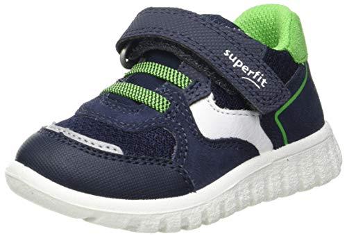 Superfit SPORT7 Mini Sneaker Lauflernschuh, BLAU/GRÜN, 26 EU