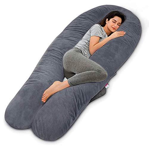 Dream night Schwangerschaftskissen, U-förmiges Schwangerschaftskissen für schwangere Frauen, 3 kg, 80 cm,...