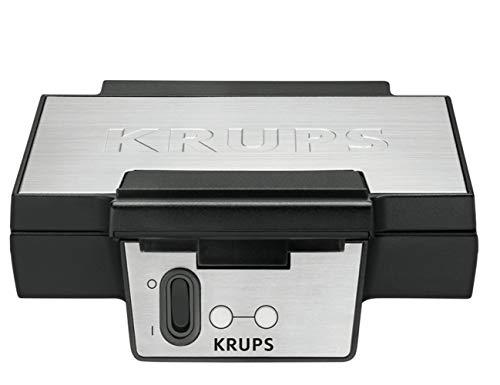 Krups Waffeleisen FDK251 | Doppelwaffeleisen | 2 Belgische Waffeln gleichzeitig | Antihaftbeschichtete Platten...