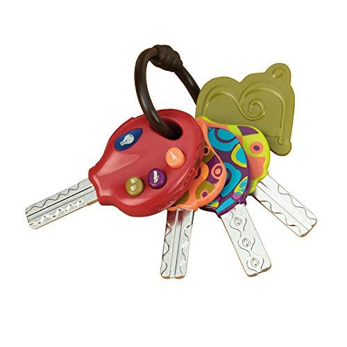 B. toys Baby Spielzeug Luckeys Spielzeugschlüssel Rot – Autoschlüssel mit Licht und Geräuschen für...