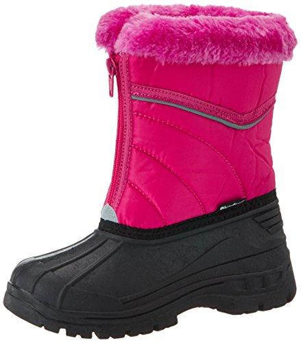 Playshoes Kinder Winter-Stiefel, gefütterte Schneestiefel mit Reisverschluss, Pink (pink 18), 22/23
