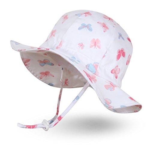 Ami&Li tots Mädchen Sonnenhut Verstellbarer Hut mit breiter Krempe Sonnenschutz UPF 50 für Baby Mädchen...
