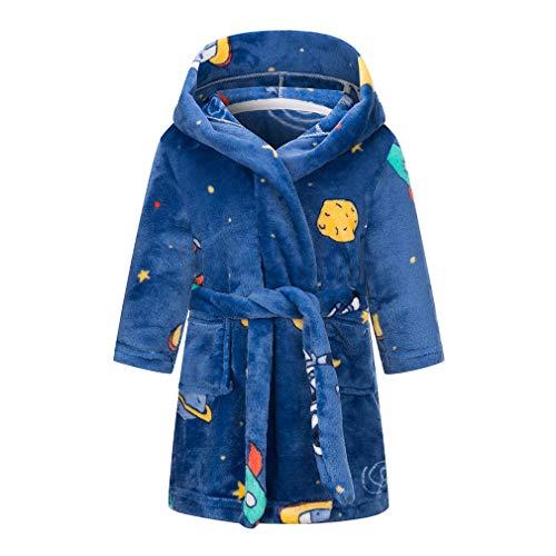 Taigood Kinder Bademantel Jungen Mädchen Hoodie Roben Kleinkind weichen Pyjamas Nachtwäsche- Gr. 3-4 Jahre,...