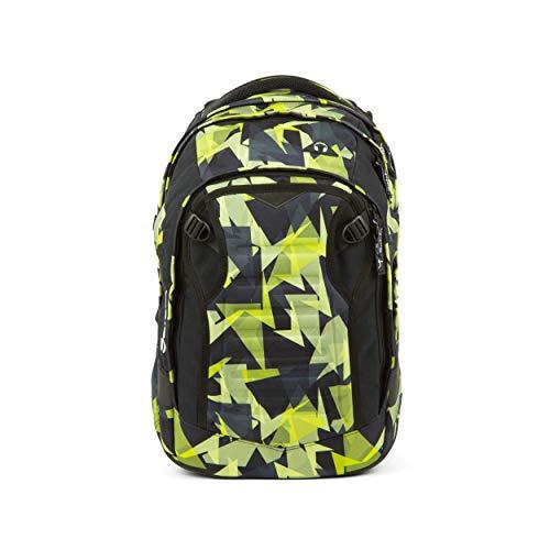 satch Match, Gravity Jungle ergonomischer Schulrucksack, erweiterbar auf 35 Liter, extra Fronttasche