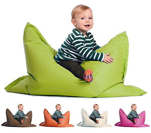 sunnypillow S Sitzsack, Outdoor & Indoor 100 x 70 cm mit 60L Styropor Füllung Sessel für Kinder & Erwachsene...