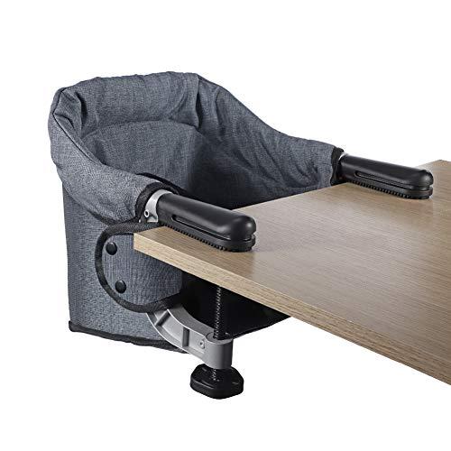 Tischsitz Faltbar Baby Hochstuhl Sitzerhöhung Portable Stuhlsitz mit Transportbeutel, Ideal für zu Hause und...