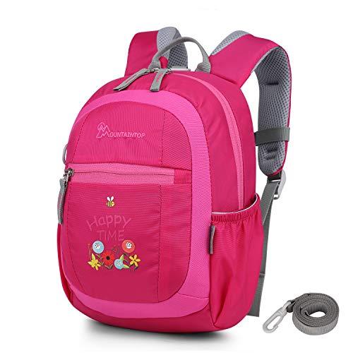 MOUNTAINTOP 4.5L Mini Backpack Kinder Kleinkind Rucksack mit Anti-verlorene Bügel,Brustgurt,Namensschild für...
