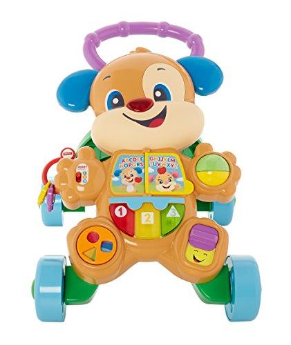 Fisher-Price FRC83 - Lernspaß Hündchens Lauflernwagen und Baby Lauflernhilfe mit mitwachsenden Spielstufen,...