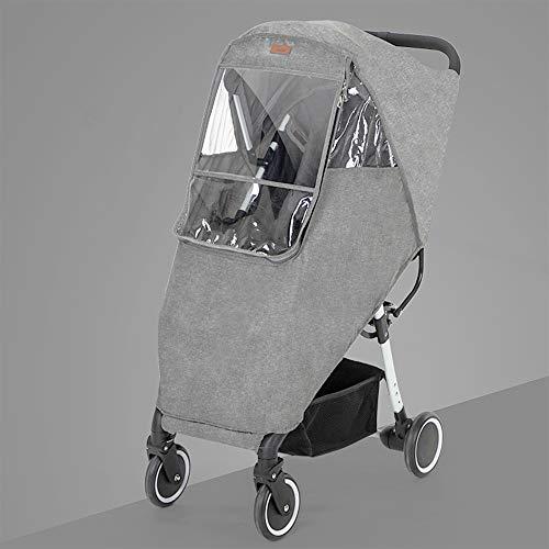 Ipobo Kinderwagen Regenschutz Reise Wetter Schutz Universal mit Luftlöchern EVA-Fenster, für Kinderwagen...