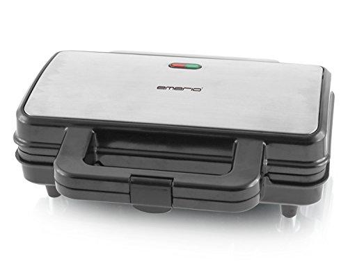 Emerio ST-109562, XXL Sandwichtoaster für alle Toastgrößen geeignet, Edelstahl, große Muschelform, kein...