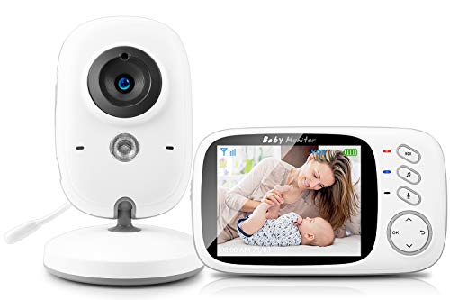 SYOSIN Babyphone mit Kamera, Video Überwachung Baby Monitor Wireless 3.2' TFT LCD Digital dual Audio...