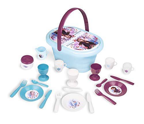 Smoby – Die Eiskönigin Picknick-Korb – Spielset mit Spielzeug-Teeservice (20 Teile), inkl. Teller,...