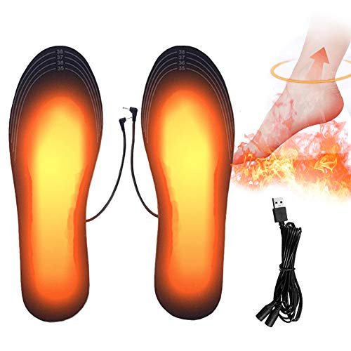 PINPOXE Fußwärmer, Beheizbare Einlegesohlen, Sohlenwärmer, Wärmesohle,Schuhheizung, Beheizbare...