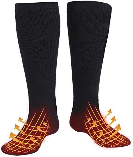 WATERFLY Beheizbare Socken für Herren Damen, Wiederaufladbarem Batterie Beheizte Socken,...