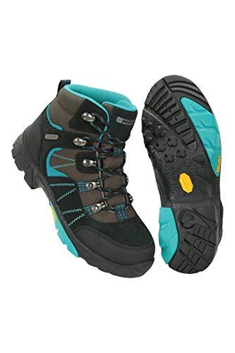 Mountain Warehouse Edinburgh Vibram Youth Wasserfeste Kinder Stiefel - Atmungsaktive, leichte Wanderstiefel,...