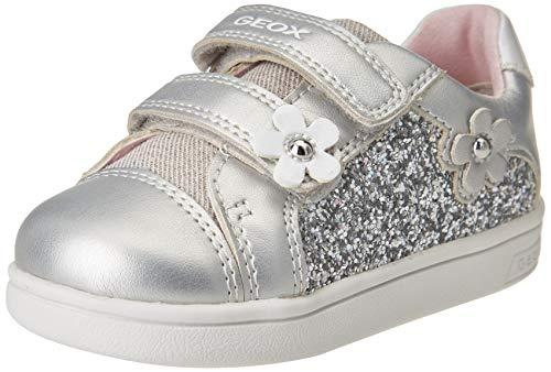 Geox Baby-Mädchen B DJROCK Girl C Sneaker, Silver, 25 EU