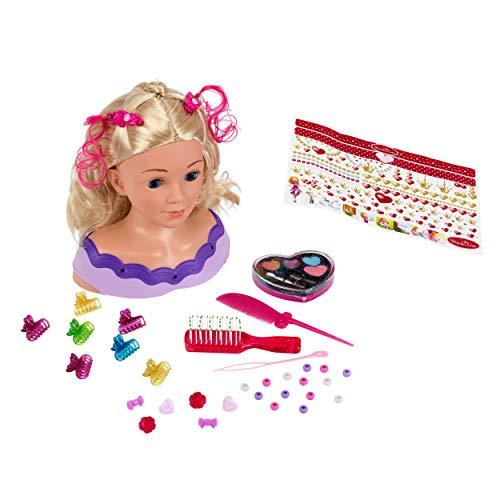 Theo Klein 5399 Princess Coralie Styling Head Little Emma, Schminkkopf, Frisierkopf inklusive Kosmetik und...