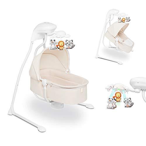 Lionelo Henny 3in1 Baby Wippe Babyschaukel und Babyliegestuhl Babywippe Elektrisch mit Liegefunktion 10...
