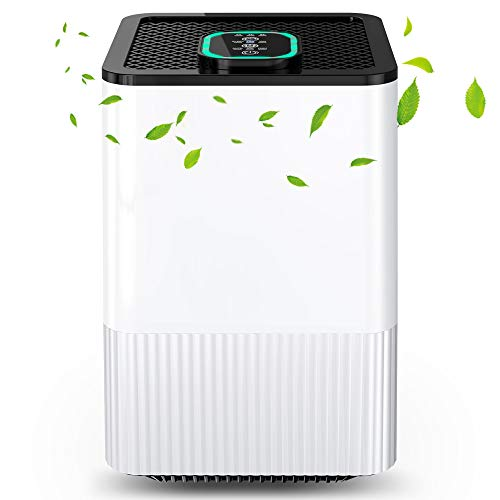 Luftreiniger 4 in 1 mit HEPA-Filter und Ionisator, Luftreiniger für zu Hause mit Luftqualitätsanzeige und...