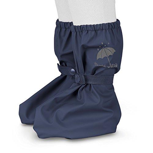 Sterntaler Unisex Baby Regen-Überschuh mit Druckknopf, Größe: One Size, Farbe: Blau (Marine), Art.-Nr.:...