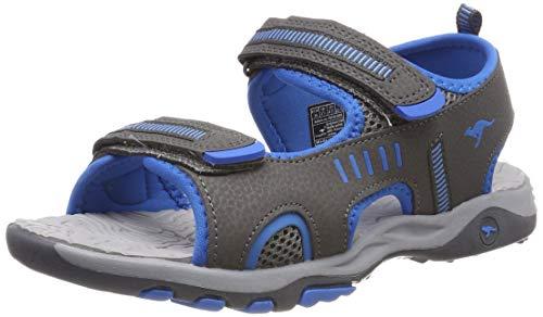 KangaROOS K-Logan Unisex-Kinder Sneaker, Grau (Steel Grey/Blue 2098), 30 EU