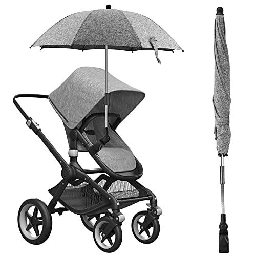 vitutech Universal Sonnenschirm Kinderwagen, UV Schutz 50+ Sonnenschirm Sonnenschutz für Kinderwagen&Buggy,...