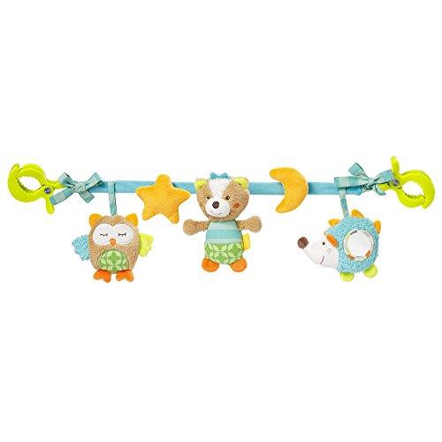 Fehn 071535 Kinderwagenkette Sleeping Forest – Mobile-Kette mit niedlichen Figuren zum Aufhängen an...