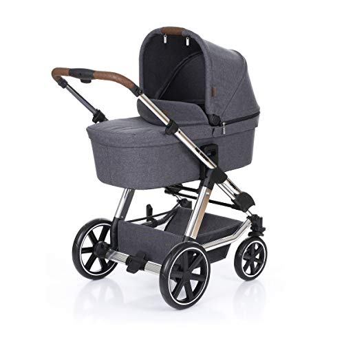 ABC Design Kombi-Kinderwagen Turbo 4 T - Diamond Special Edition - inkl. Babywanne & Sportsitz - Asphalt