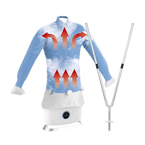 CLEANmaxx Automatischer Hemdenbügler mit Dampffunktion inkl. Hosenaufsatz | Trocknet und glättet Hemden &...