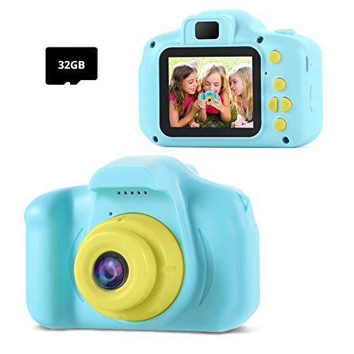 TekHome KinderKamera ,Geschenk für Junge 3 4 5 6 Jahre,Spielzeug ab 7 8 9 Jahren Jungs,Kinder Fotoapparat mit...