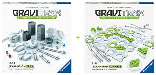 GraviTrax 73112 Ravensburger Kugelbahn 73112-Bundle Erweiterungen Tunnel und Trax, für Kinder ab 8 Jahren und...