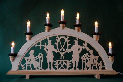 yanka-style Schwibbogen Lichterbogen Leuchter Bergleute traditionelles Motiv 7flammig Weihnachten Advent...