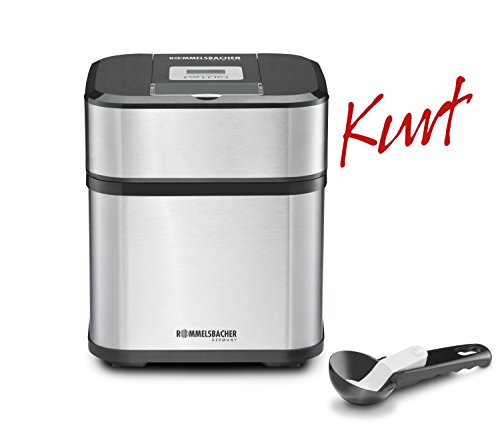 ROMMELSBACHER IM 12 Eismaschine 'Kurt' (4-in-1 für Speiseeis, Frozen Yogurt, Sorbet & Slush, Füllmenge 500...