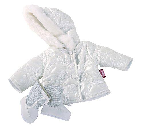 Götz 3402186 Kombination Silberschleifchen - Steppjacke Puppenbekleidung - Gr. XL - 3-teiliges Bekleidungs-...